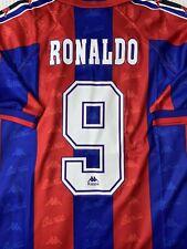 Retro Barcelona Ronaldo Football Shirt no. 9 Sizes From Small To XXL