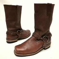 X ELEMENT MENS BROWN Distressed LEATHER HARNESS MOTORCYCLE BOOTS SIZE 10.5 M
