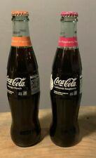 NEW Coca Cola California Georgia Peach & Raspberry Flavored Bottle Soda 12 oz