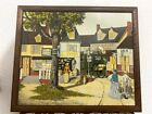 H. Hargrove general store vintage oil painting Framed 24 x 20''