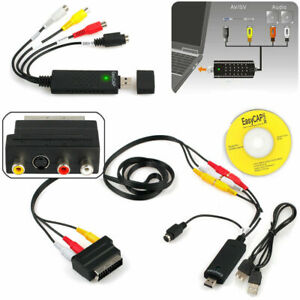 USB 2.0 Audio Video VHS to DVD VCR PC HDD Digital Converter Capture Card Adapter