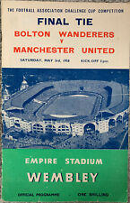 More details for bolton wanderers v manchester united fa cup final 1958 with autographs