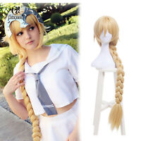 Fate FGO Saber Alter Long Braids Styled Hair Wigs Blonde Cosplay Wig