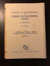 RASSEGNA DI GIURISPRUDENZA SUL CODICE DI PROCEDURA CIVILE Tomo I Libro I