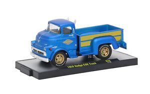 AS-IS TF1 L94   32500 46 M2 MACHINES AUTO TRUCKS 1958 DODGE COE TRUCK BLUE 1:64