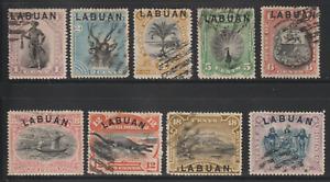 LABUAN 1894 WILDLIFE ANIMALS CULTURE SET OF 9V CTO ISC CAT RM 900 FOR POSTALLY U