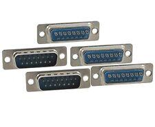 5x Connecteur à souder DB15 15 broches male - 5x DB15 solder connector 15 pins