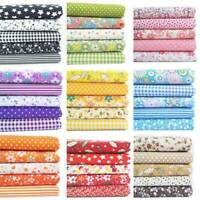 7PC/Set Cotton Fabric Material Bundle Scraps Offcuts Quilting Quilt Fabric d0y