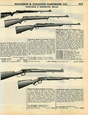 1951 ADVERT Husqvarna Hi Power Rifle Winchester Repeating Carbine Model 70 43 64