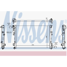 Kühler Motorkühlung - Nissens 61875A