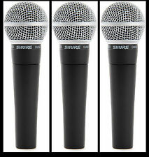 (3) New Shure SM58 Vocal Mics  Authorised Dealer Make Offer Buy It Now!