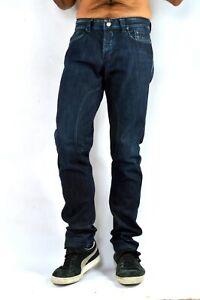 SIVIGLIA Mens Jeans Dark Blue Stretch Straight SLIM FIT SP01WEU-7 W33 L34  VGC