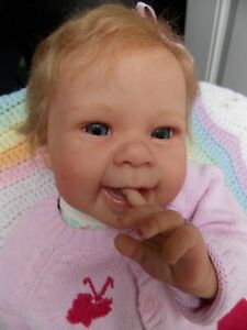 """🌼RARE! Adorable 21"""" MAIZIE by ANDREA ARCELLO Sweet Reborn Baby Girl Doll 🌼"""