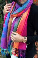 Ladies Scarves Long Scarf Shawl Cotton Paisley Floral Rainbow Scarf Pashmina