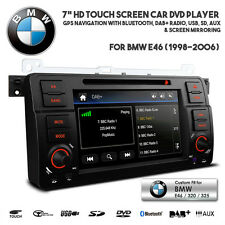 "7"" HD Navigation Car Bluetooth DAB+ Radio DVD USB SD Stereo For BMW E46 3 Series"