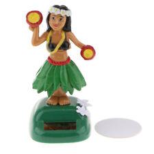 Solar Powered Dancing Hula Girl Swinging Bobble Toy Car Home Decor Green