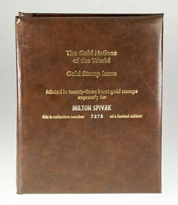 the Gold Nations of the World gold Stamp Collection 23 Stamps in Album