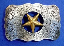 Western Rodeo Cowboy Decor Cast Gold Star Buckle