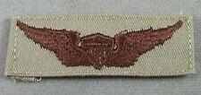 US Army Desert Tan Cloth Aviator Badge - Pilot Wing