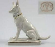 schäferhund Hund hundefigur porzellanfigur mit marke  figur weißer schäferhund