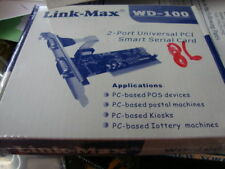 NEW Link-Max 2 Port RS232C PCI SMART SERIAL CARD WD-100 RS232