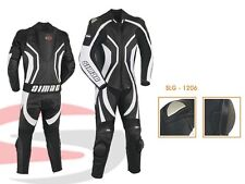 Motorcycle Motorbike CE Approved Leather Racing Suit One Pcs Black/white Slg-1206 5xl