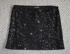 NWT EXPRESS BLACK SEQUIN SPARKLE NETTED LINED XS MINI STRETCH SKIRT