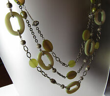 """Sterling Silver 3 Stand Shell Pearl Toggle Clasp 18"""" Necklace LUC Lucas Lameth"""