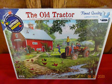 WHITE MOUNTAIN PUZZLE THE OLD TRACTOR 1000 PC 2016 NEW LARGER PIECES SEALED