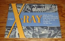 Original 1961 Rambler X-Ray Luxury Cars Comparison Sales Brochure 61
