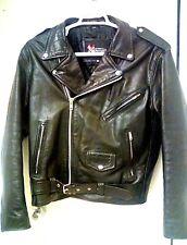 Mens XELEMENT M/L Cowhide Leather Belted Motorcycle Biker Full Zip Jacket EUC