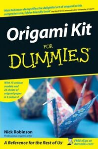 Origami kit for dummies by Nick Robinson (Paperback) FREE Shipping, Save £s