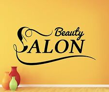 Beauty Salon Wall Decal Fashion Girl Logo Vinyl Sticker Art Decor Mural 40bar