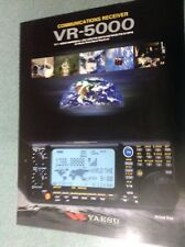 Yaesu VR5000  GENUINE LEAFLET ONLY) 2pages printed both sides
