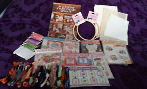 Cross Stitch/embroidery Job Lot. Christmas/gifts. Book And Frames