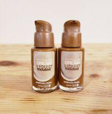 Maybelline Dream Liquid Mousse Airbrush Foundation Cocoa Dark 3 NEW 1oz Lot of 2