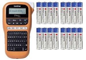 Brother P-touch E110 Beschriftungsgerät Label Gerät Drucker TZe 3.5 6 9 12+16AAA