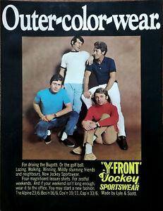 Lyle & Scott Y-Front Jockey Sports Wear Outer-Color-Wear Vintage Advert 1969