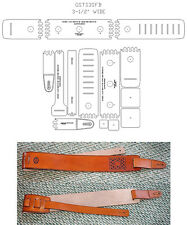"3-1/2"" SUPER FATBOY GUITAR SLING TEMPLATE SET - LEATHERCRAFT -NEW ITEM- GSTS35FB"