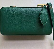 Authentic Pandora travel jewelry leather green  case