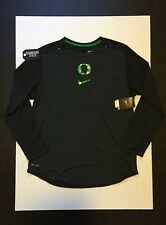 Nike Dri-Fit Oregon Ducks Velocity L/S Player Training Shirt Men's Size L Rare!