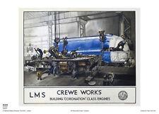 Crewe Cheshire coronación de estilo vintage y retro arte cartel de viaje de Ferrocarril Publicidad