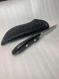 Bark River Knives Adventurer III CPM 154  Black C-Tek USA