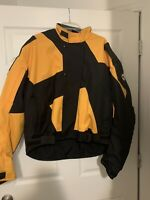Joe Rocket Ballistic Series Men's XL Motorcycle Jacket Padded Yellow And Black