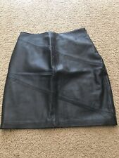Style & Co Collection Black Leather Skirt Soft Above Knee A Line Pencil Sz 8