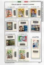 Francobolli codice barre 2010- Annata in singoli completa di 53 emissioni- MNH