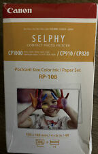 Canon RP-108 4x6 108 Sheets Paper & Ink fits SELPHY CP1000, CP910, CP820
