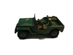 Dinky Toys Green Army Jeep - Made in England Meccano LTD