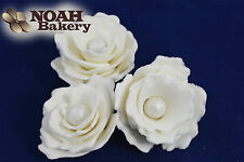White Sugar Flowers Perls Wedding Birthday Cake Decorations Toppers