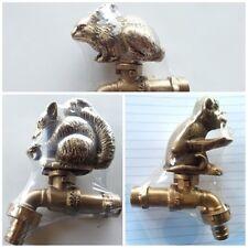 Set Brass Garden Monkey Rabbit Squirrel Spigot Tap Faucet Vintage Water Decor